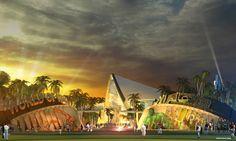 Dubai World Marvel Super Heroes Theme Park concept art