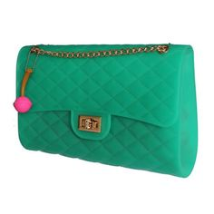 Maxi Emerald Eve Glow Bag (it's rubber!)