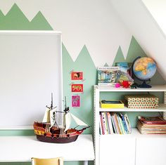 #DIY #walldecoration #boysroom Vlakken schilderen #kinderkamer #jongenskamer Saarkeloves via Kinderkamerstylist