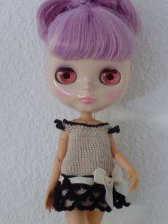 Vestido de crochet para Blythe por blythemia en Etsy, €20.00