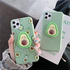 Luxury Cute Cartoon Fruit Avocado Soft Silicone Phone Case for Iphone X Xr Xs 11 Pro Max 6 S 7 8 Plus Holder Cover Gift Kawaii Phone Case, Girly Phone Cases, Diy Phone Case, Iphone Phone Cases, Phone Covers, Animal Phone Cases, Lg Phone, Cool Iphone Cases, Portable Iphone