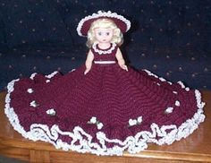 JACQUELINE is a crochet bed doll pattern by Ricochet 1950. I originally found at  Sadly, this site is no longer available. I hope she doesn't mind me sharing her beautiful patterns. I have not actu...
