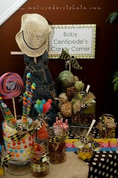 Cute table set up for sip n' see baby party