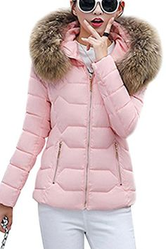 Jofemuho Womens Winter Zipper Thicker Faux Fur Hooded Down Quilted Jacket Coat 5 L Best Winter Coats for Women USA Classy Winter Outfits, Winter Outfits For School, Winter Outfits Women, Cute Winter Coats, Winter Coats Women, Coats For Women, Faux Fur Collar, Fur Collars, Womens Parka