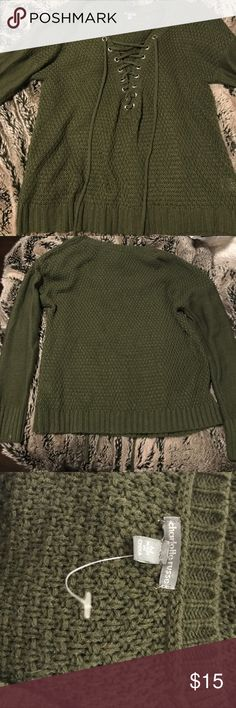 Charlotte Russe long sleeve sweater Olive green sweater never worn just took the tag off size MEDIUM Charlotte Russe Sweaters