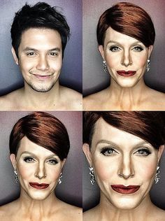 Pin for Later: He Did It Again! A Man Transforms Into Caitlyn Jenner With Makeup Julianne Moore Julianne Moore, Timberland, Paolo Ballesteros, Lgbt Celebrities, Power Of Makeup, Cosplay Makeup, Makeup Transformation, Kris Jenner, Fantasy Makeup