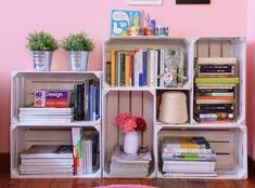How to furnish your home with DIY: ideas and solutions for every room - DIY House ideas - - Home Office Decor, Diy Home Decor, Room Decor, Diy Casa, Crate Shelves, Pallet Shelves, Wood Crates, Room Organization, Home And Living