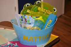 Baby Gift Basket made with cricut.