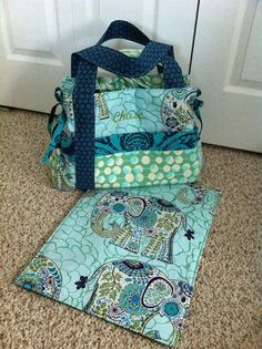 Boy's Monogrammed Diaper Bag - Choose Your Own Fabric