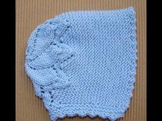 Gorrita para bebé: Como hacer una gorrita con capota en crochet o ganchillo - YouTube Baby Hat Knitting Pattern, Bonnet Pattern, Baby Hat Patterns, Baby Hats Knitting, Knitting For Kids, Knitted Hats, Knitting Patterns, Crochet Patterns, Beanie Pattern