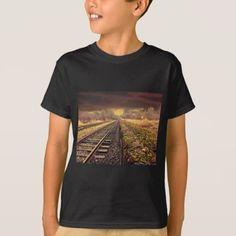#Railway at Dawn T-Shirt - #cool #kids #shirts #child #children #toddler #toddlers #kidsfashion