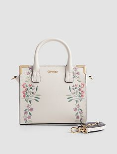 a34157be8b9 Image for embroidered small crossbody satchel from Calvin Klein Calvin  Klein Handbags, Mini Backpack,