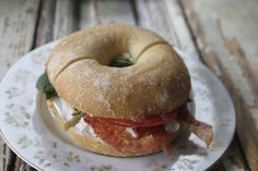 BLT Bagel ~Bacon, Spinach, Tomato, Cream Cheese~