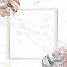 Square gold frame with metallic monstera leaf background vector | premium image by rawpixel.com / nunny Gold Wallpaper Background, Framed Wallpaper, Pastel Background, Leaf Background, Background Patterns, Flower Graphic Design, Bg Design, Instagram Frame Template, Instagram Background