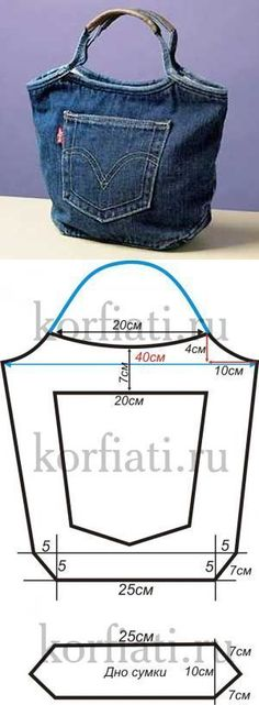 Recycled denim bag from:  korfiati.ru