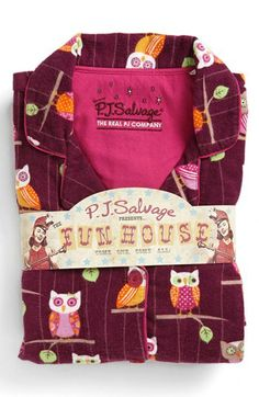 PJ Salvage Print Flannel Pajamas (Plus) available at #Nordstrom.  I could live in pj's!