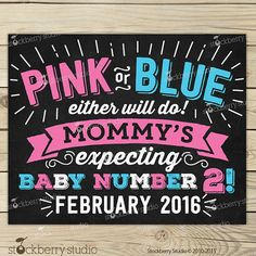 Items similar to Pregnancy Announcement Sign - Pink or Blue - Pregnancy Reveal - We're Expecting - Pregnancy Announcement Chalkboard - Gender Reveal Party on Etsy Expecting Baby Announcements, Baby 2 Announcement, Baby Due Date, Chalkboard Poster, Reveal Parties, Pink Blue, Chalkboard Pregnancy, Printable