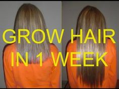 How to grow your hair in less than 1 week (Natural Fast Hair Growth remedy) - YouTube
