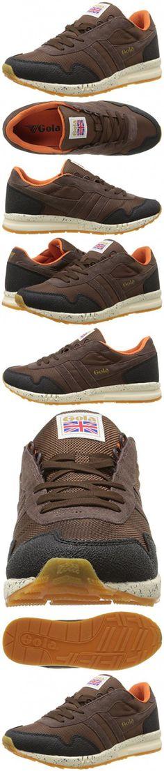Gola Men's Katana Ranger Fashion Sneaker, Brown/Black/Orange, 7 M US