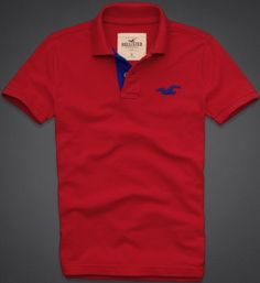 Hollister Co. Red Paradise Cove Polo £29