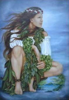 Lori Higgins Ka No'o No'o Reflections My favorite artist Hawaiian Dancers, Hawaiian Art, Hawaiian Girls, Hawaiian Tattoo, Polynesian Art, Polynesian Culture, Hawaiian Goddess, Wicca, Hula Dancers
