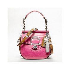 Coach Leather Colorblock Small New Willis ($258) ❤ liked on Polyvore