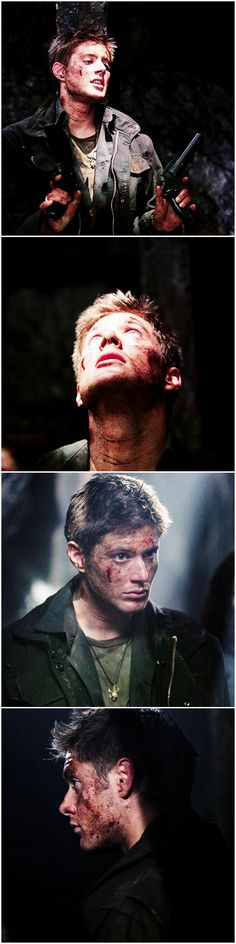 He still manages to be perfect, even when he's covered in blood and dirt. Why can't real boys be like this?