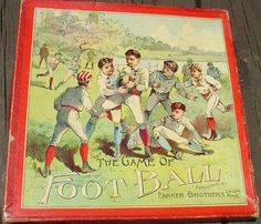 Antique & Quite Rare Parker Brothers Game of Football Complete w/ Original Box (08/10/2013)
