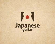Japanese guitar  My comment: Quite clever and creative. The empty space symbolizes a guitar.  The red spot is the one from Japan's national flag.  However, the typography of letters seem awkward. I want the designer to use more creativity on the letters like the symbol's creativity.