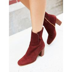 Breakers Heel Boot ($180) ❤ liked on Polyvore featuring shoes, boots, block heel shoes, free people boots, calf length boots, chunky heel boots and block heel boots