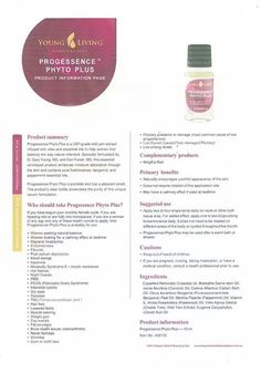 Young Living Essential Oils: Progessence Phyto Plus contains Wild Yam… Oils For Life, Oils For Skin, Therapeutic Grade Essential Oils, Doterra Essential Oils, Young Living Oils, Young Living Essential Oils, Progessence Plus Young Living, Yl Oils, Healing Oils