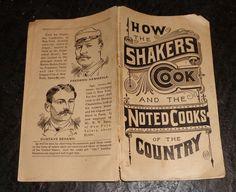 Rare 1889 Shaker cook book advertising trade card catalogue