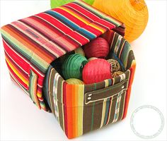 Nesting Baskets in Loomstate & Yarn Dyed Cotton: Fabric Depot | Sew4Home
