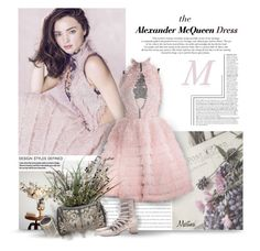 """""""The Alexander McQueen Dress"""" by thewondersoffashion ❤ liked on Polyvore featuring Kerr®, Alexander McQueen, Zimmermann and VANINA"""