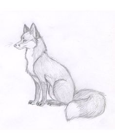 Fox Sketch – New 2012 by Vicnor on DeviantArt – Tiere Cute Sketches, Art Drawings Sketches Simple, Pencil Art Drawings, Drawing Ideas, Cute Animal Drawings, Cute Drawings, Animal Sketches Easy, Dog Sketch Easy, Easy Drawings Of Animals