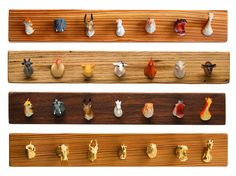 7 DIY plastic animal projects - candle holders, fridge magnets, necklace, photo holder, wall hooks, planters, bookends