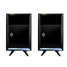 Mid Century Ebonized Nightstands