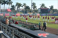 Red Sox players warm up on the field prior to a spring training game at City of Palms Park in Fort Myers, Fla. While Sox players use spring training to get back to form for the regular season, they're not the only ones who are here to work. Plenty of other people find employment in the sunny Florida setting that serves as baseball's warm-up season. Here is a look at those who don't make headlines, but still find employment at spring training.