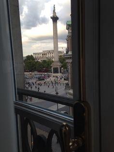 Yey! You can see the pole on Trafalgar Square! At The Trafalgar London, London, UK 2014