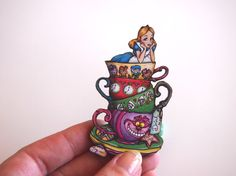 Teacup Alice  Alice in Wonderland  Laser Cut by HungryDesigns