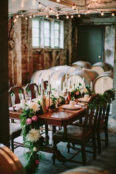 Woodsy Winery Styled Shoot   Coastal Bride
