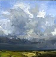 Tia Shan Schierenberg - Through Cloud Break 2001 Oil on board 76 x 76 cm Sky Painting, Abstract Landscape Painting, Landscape Paintings, Knife Painting, Cloud Art, Modern Impressionism, Social Art, Sky Landscape, Fauna