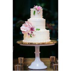 Buttercream wedding cake with sugar flowers by 2tarts Bakery. www.2tarts.com