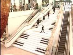 Teknosa & Forum Istanbul Piano Stairs - Piyano Merdivenler 2010.wmv    why don't more people take the stairs?