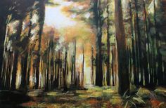Forest Landscape Painting #1: Abstract Realist Art For Sale