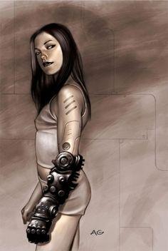 Cyberpunk, Future, Cyborg Girl, Female Bot, Prosthetic Hand, Android Girl, sci-fi, glave, cyborg, robot, futuristic by FuturisticNews.com