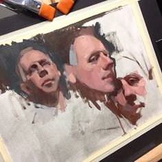 Three heads in three hours. My Wednesday Evening Painting Class! #demo #portrait #painting #allaprima #sadievaleriatelier #oil