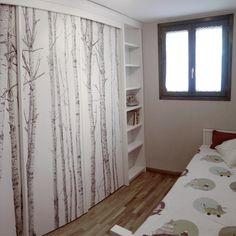 Antes y después de armarios renovados con vinilos para muebles Room Closet, Ikea Hack, Small Rooms, Baby Shower, Curtains, Living Room, Diy, Furniture, Algarve