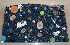 Sensory tubs... the final frontier! Mari-Ann (Counting Coconuts) will have your little astronaut blasting off to explore outer space with her January space-themed sensory tub. Pinned by SPD Blogger Network. for more sensory-related pins, see http://pinterest.com/spdbn