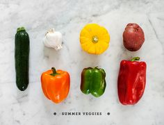 summer veggies and corresponding recipes